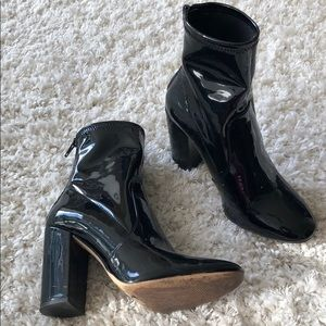 Aldo patent boots